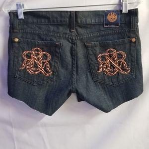 Rock & Republic Cut Off Denim Shorts Jeans Size 27